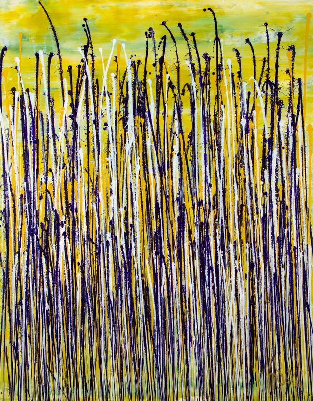 Glare garden (Purple and yellow reflections)
