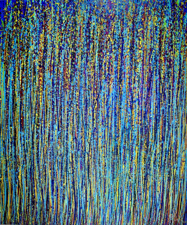 Blue satin drizzles (Satin Spectra)