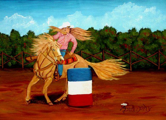 Cowgirl Barrel Racer