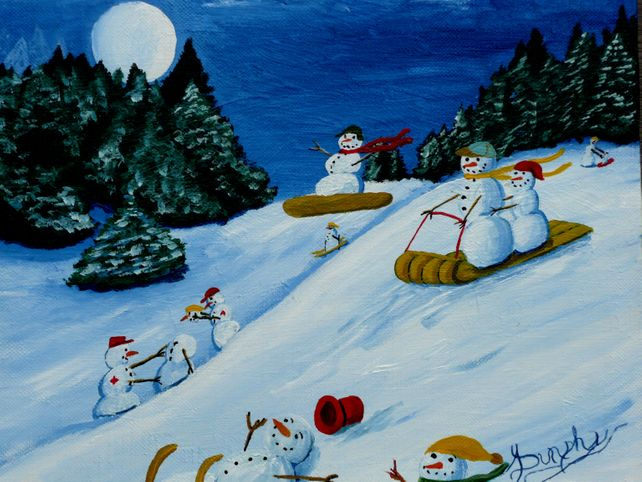 Snowmans Winter Sports