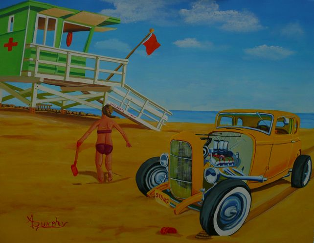 Little Deuce Coupe on the Beach