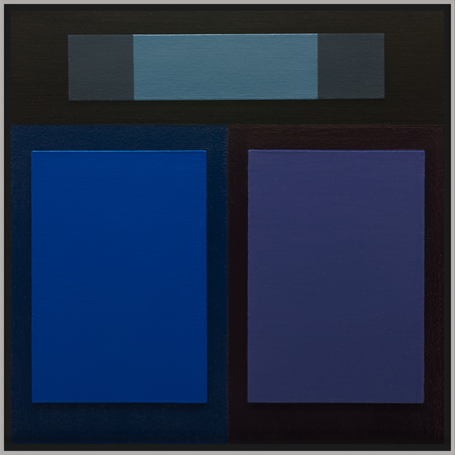 BLUE BORDEAUX - Modern Color Field Painting