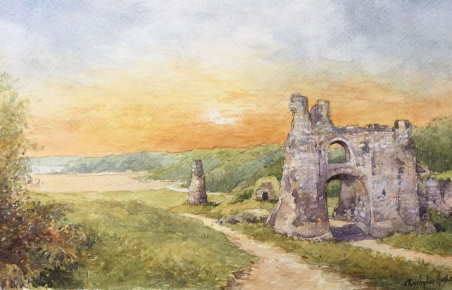 Pennard Castle. The Gower.South Wales