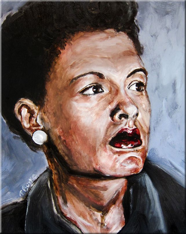 Billie Holiday Oil Study