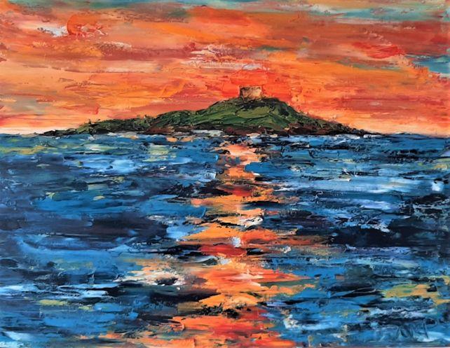 Sunrise Skies over Dalkey Island