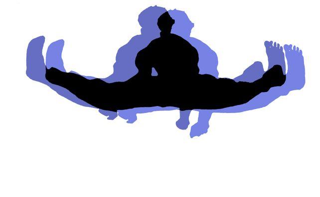 Triple Black Belt Jump - In Lavender With Black On