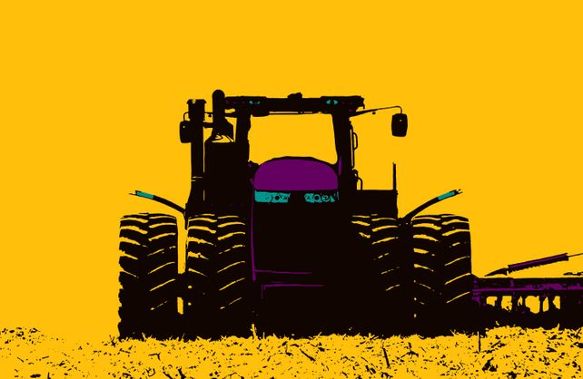 Tractor #4. - In Yellow