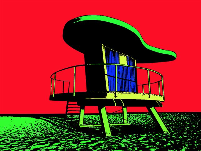 Miami Beach Lifeguard Stand #6. - In Red