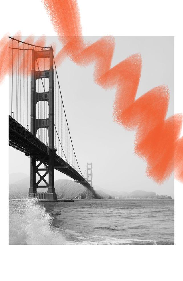 Golden Gate Bridge With Int's Orange Swigle