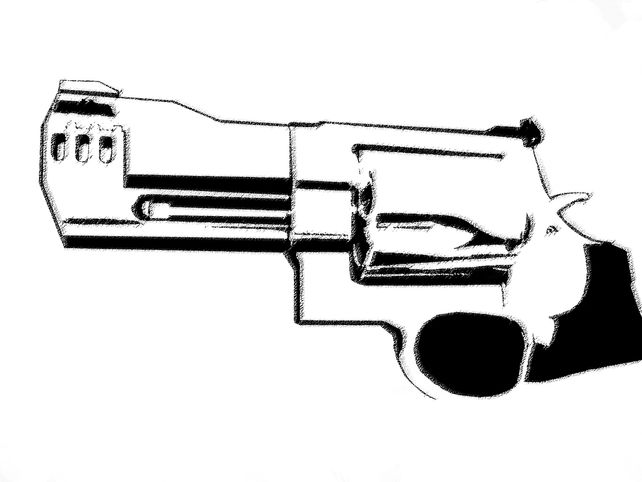 Richards .500 Magnum #1 - In B&W
