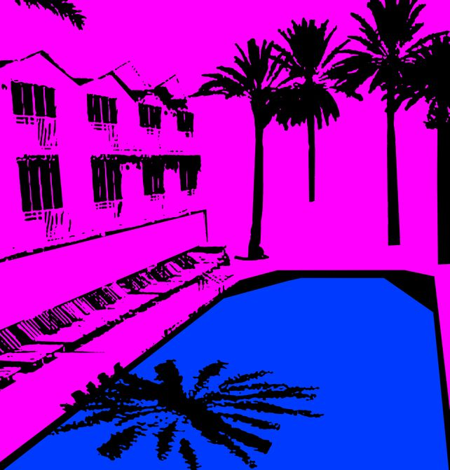 Miami Beach Pool - In Pink
