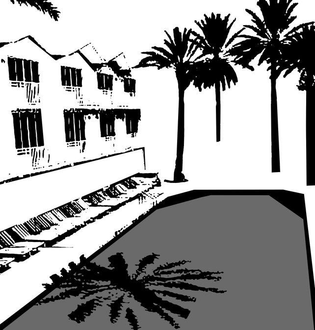 Miami Beach Pool - In B&W