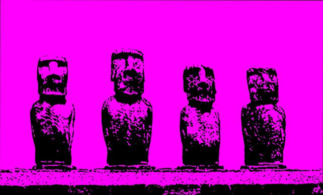 4 Kings Easter Island - In Pink