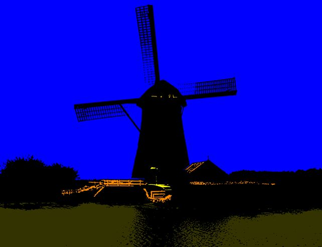 Windmill At Midnight