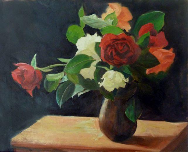 Roses, flowers in sunlight