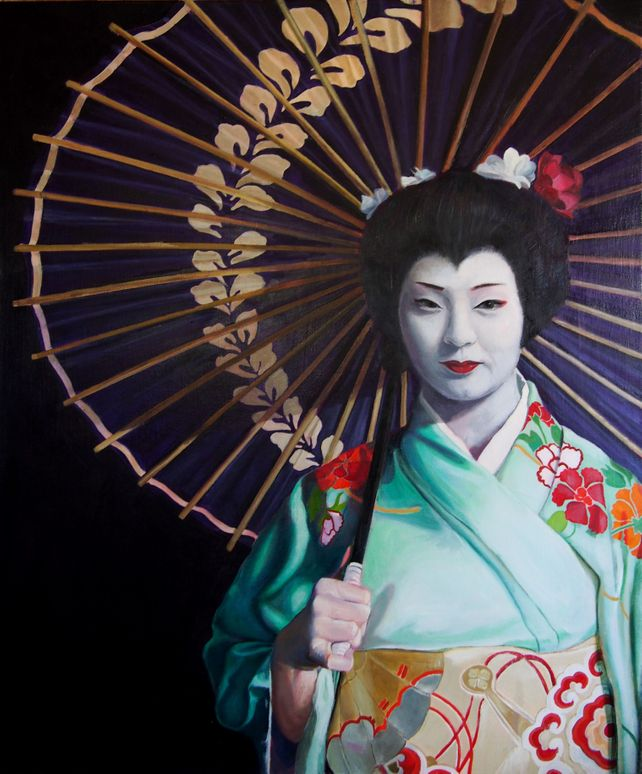 Portrait of a Young Woman as a Japanese Geisha