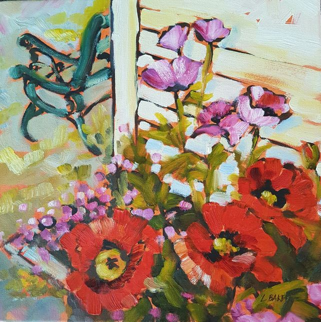 Poppies By The Bench