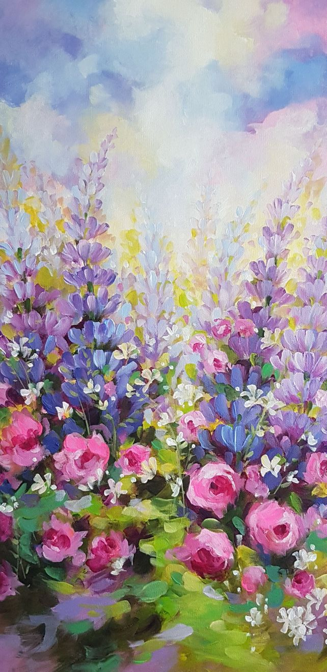 Roses and Lupins