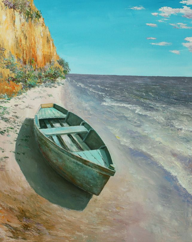 The boat on the shore