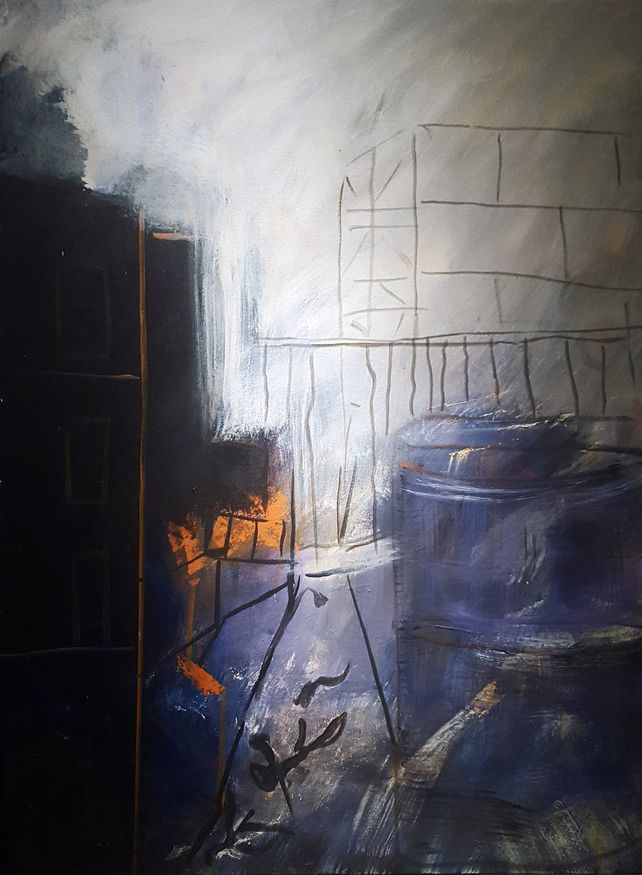 Just Another Evening 48 x 36 acrylic on canvas