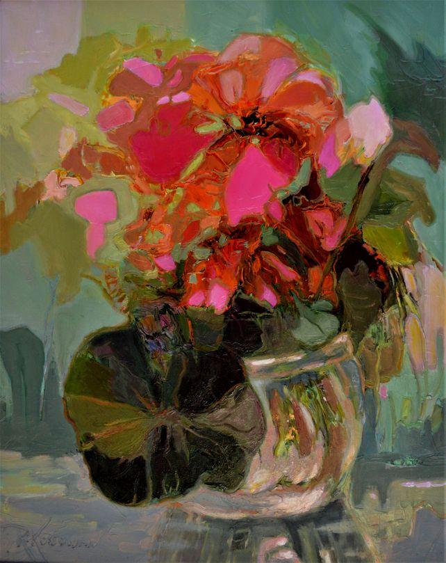 Bowl Of Scarlet Flowers