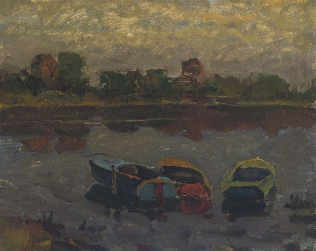 Boats on the evening river