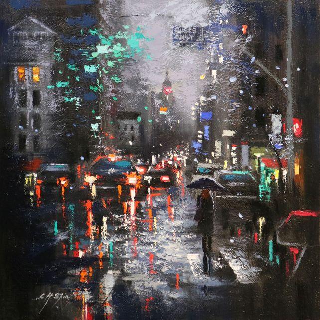 DARK RAIN IN LEXINGTON AVENUE