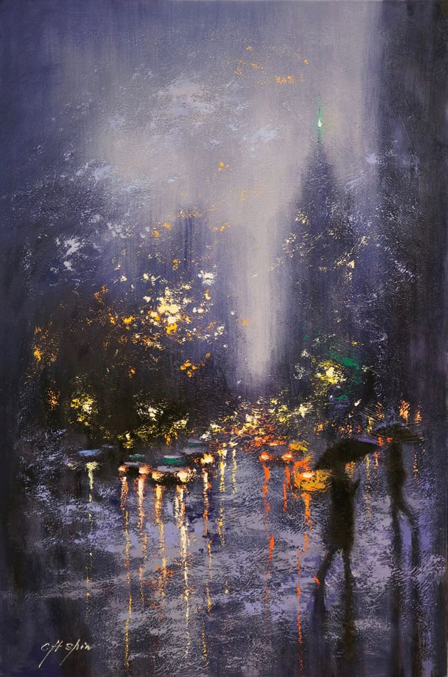 Blue Rain in Central Park West