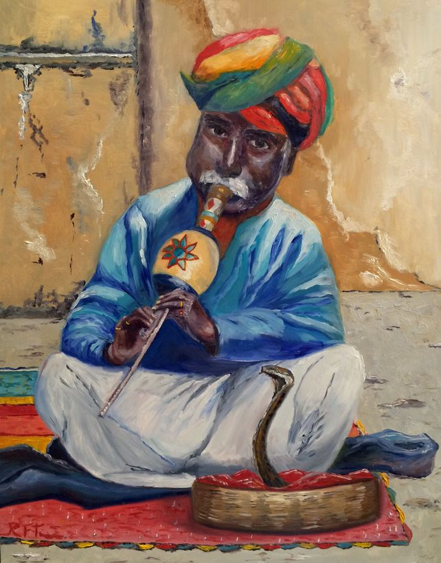 The Snake Charmer at the Amber Palace in Jaipur