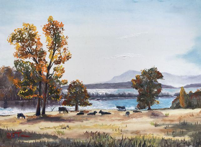 Landscape of Fall Colors Near London, Arkansas