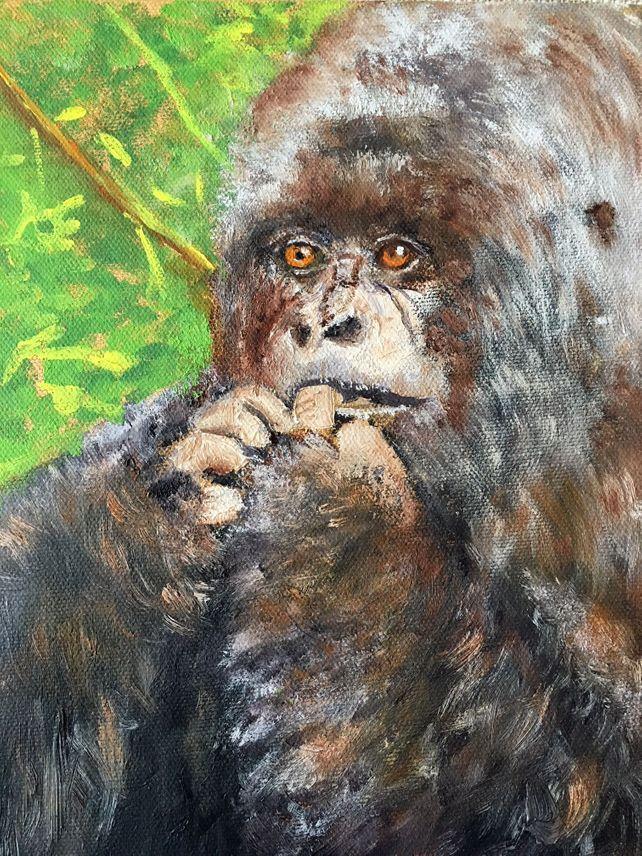 Nervous Mama Gorilla