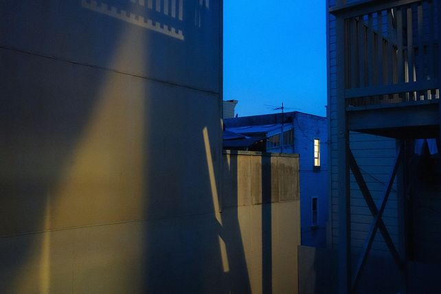 View from the Apartment, San Francisco, (Blue)
