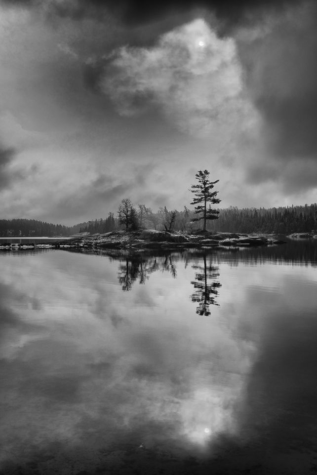 'Middle Lake Reflection' by Mike Grandmaison