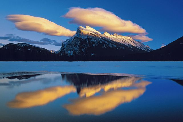 'Mt. Rundle, Lenticular Clouds'. Mike Grandmaison
