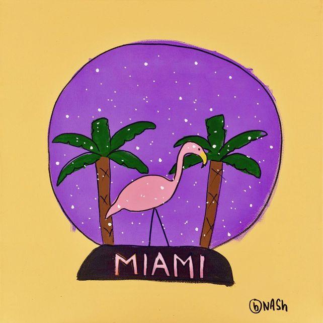 Miami Snow Globe