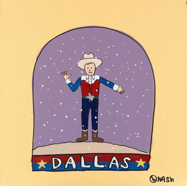 Dallas Snow Globe