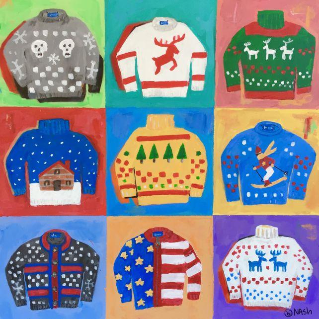 Nine sweaters