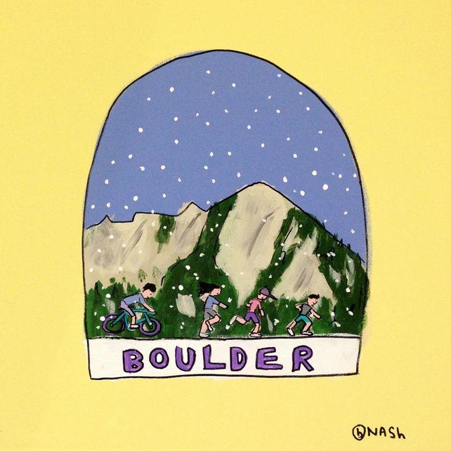 Boulder Snow Globe