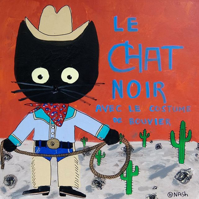 Le chat noir, cowboy