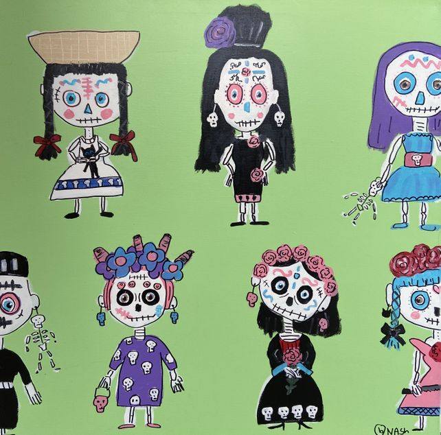 Day of the Dead Dolls(and Skittles)