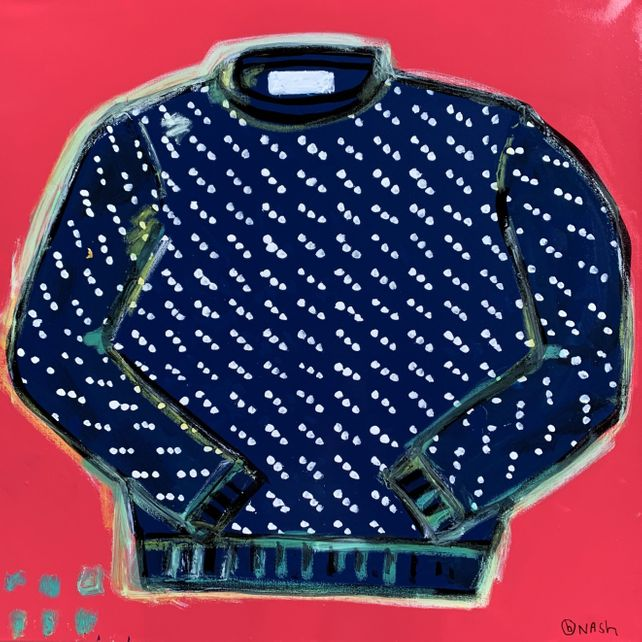 LL Bean Birds-Eye Sweater