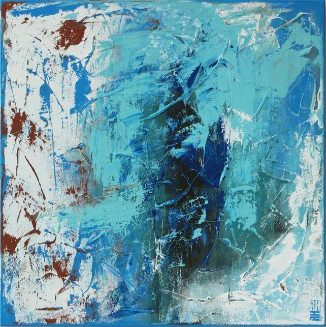 Swirl Blue on Blue