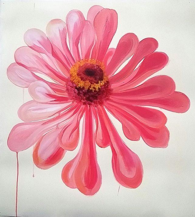 Big Pink Zinnia Flower