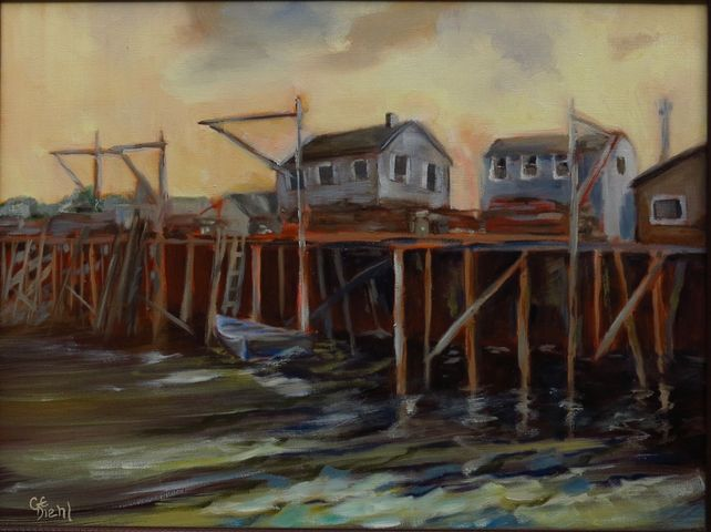 Maritime Boathouses (FRAMED)