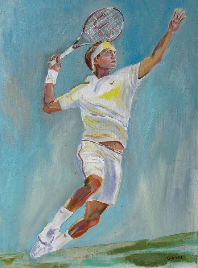 Male Tennis Figure