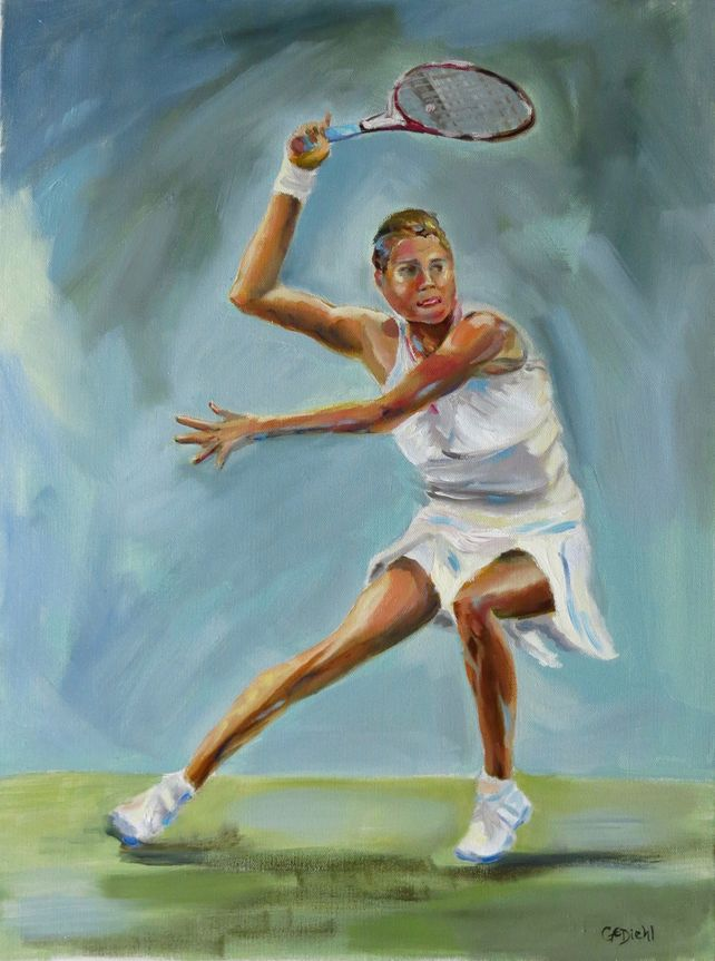 Woman Tennis Figure
