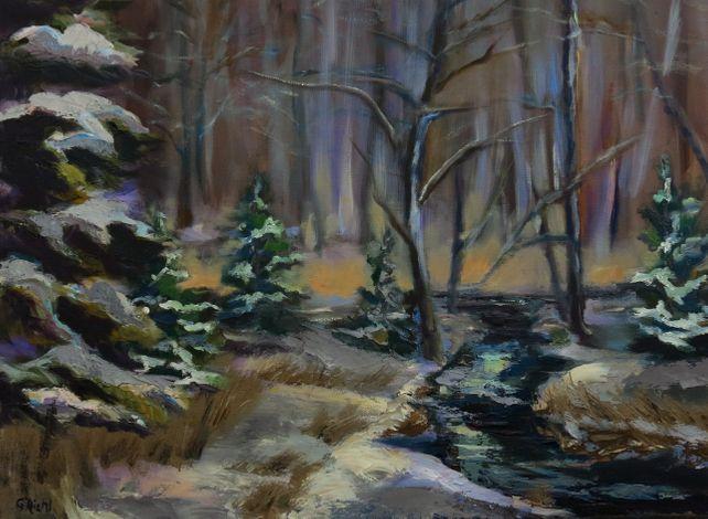 Winter Season's Brook (FRAMED)