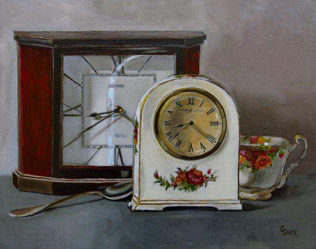 Ticking Clocks Still Life  (FRAMED)