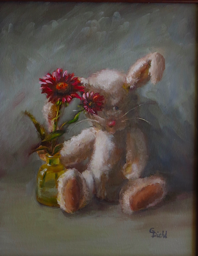 Autumn Afternoon ~ Floral Rabbit (FRAMED)