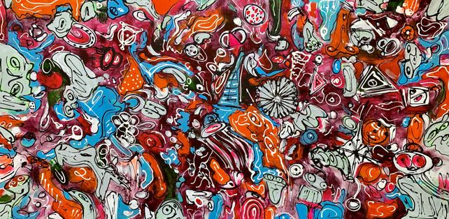 71''x 33''(180x85cm), Life in Colors 10
